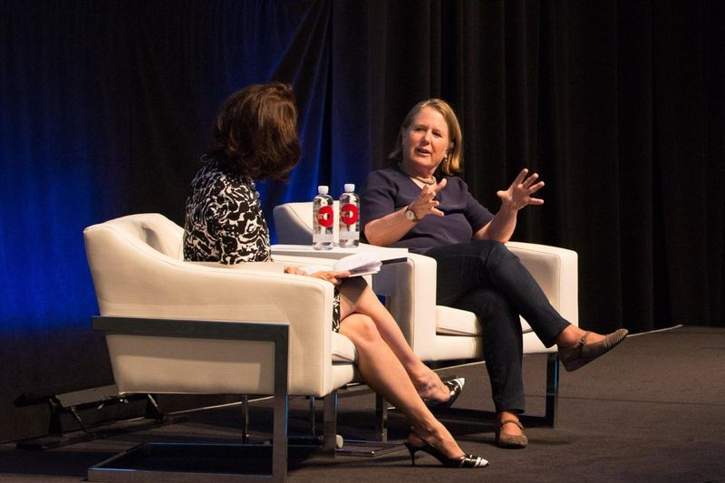 """Building Ships, Companies, and the Cloud—Google Cloud Senior Vice President Diane Greene in Conversation with the Exponential Center's Marguerite Gong Hancock,"" July 18, 2017. Produced by the Exponential Center at the Computer History Museum."