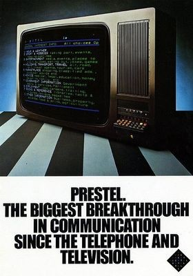The costly Prestel British videotex system had only modest success. It offered a full range of services but flourished largely in specialized markets like the travel industry.