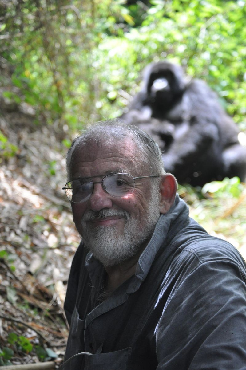 Cleve Moler and friend.