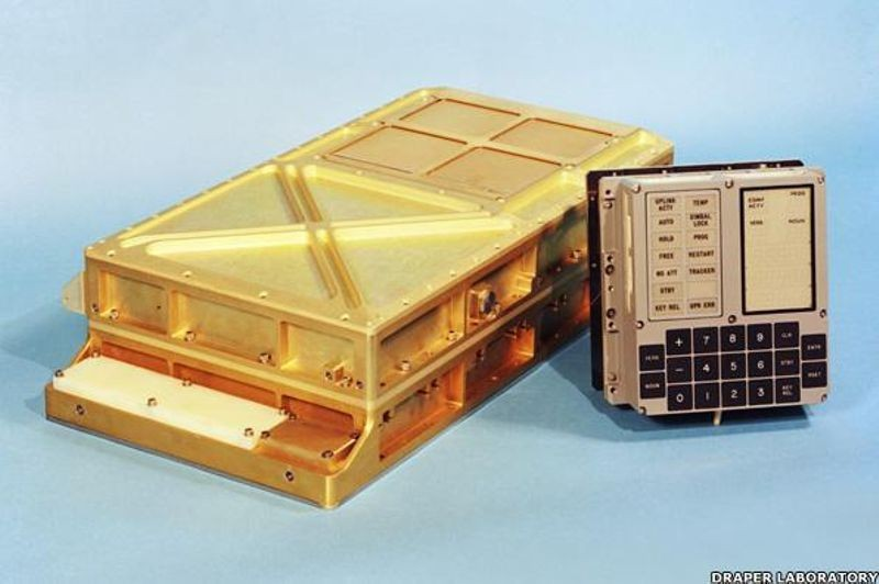 Apollo Guidance Computer and DSKY Man-Machine Interface.