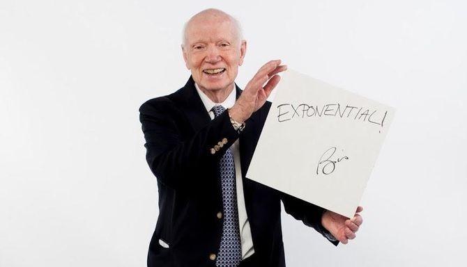 "Marketing guru Regis McKenna gives his word of inspiration: ""Exponential!"""