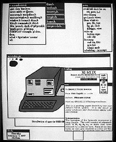 Screenshot of Smalltalk running on on the Xerox Dorado. Courtesy of the PARC Library.