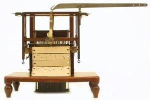 Jacquard loom model, 1825. Collection of the Computer History Museum, B117.80.
