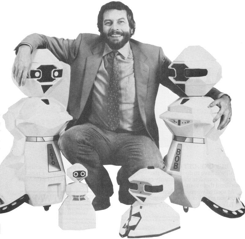 Nolan Bushnell with Topo, Androman, Fred and BOB.