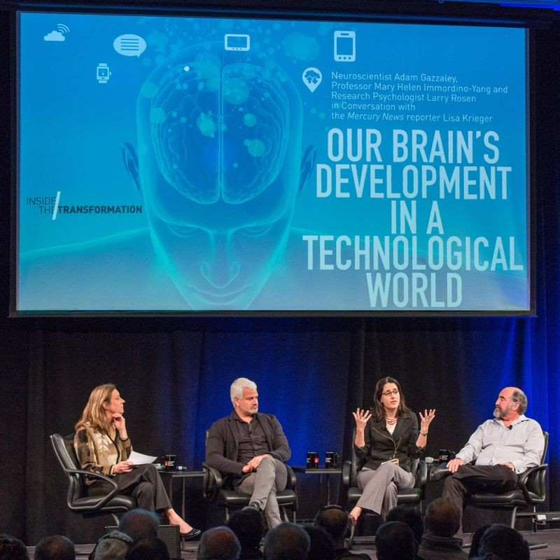 """Our Brain's Development in a Technological World: Neuroscientist Adam Gazzaley, Professor Mary Helen Immordino-Yang, Research Psychologist Larry Rosen in Conversation with Lisa Krieger of the San Jose Mercury News,"" CHM Live, February 15, 2018."