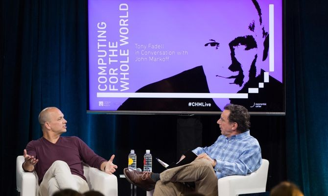 "CHM Live's ""Computing for the Whole World: Tony Fadell in Conversation with John Markoff,"" May 10, 2017. Produced by the Exponential Center at the Computer History Museum."
