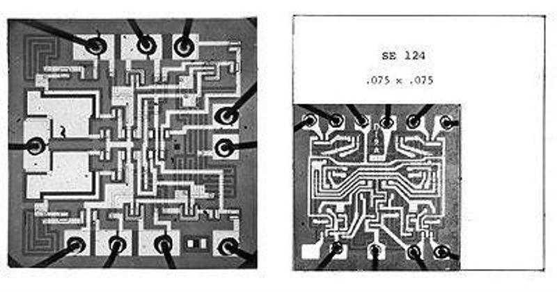 Signetics vs. Fairchild DTL flip-flop die sizes. CHM Collection