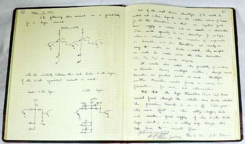 Fairchild Patent Notebook of Robert H. Beeson, March 9, 1961. CHM Collection