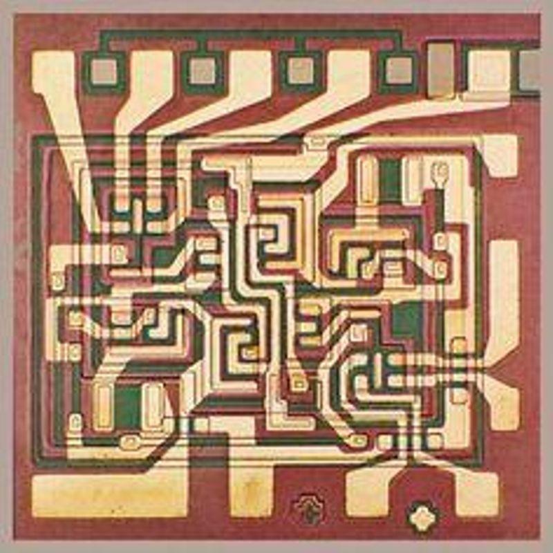 Fairchild Pheonix TTL gate die (1964). Courtesy: Fairchild Semiconductor International, Inc.