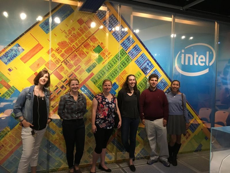 The six of us interns took a field trip to the Intel Museum. Not only was it a fun bonding experience, but it was an opportunity for the Tours project team to get a better idea of how other tech-focused museums design their tours, so we could improve on ours.