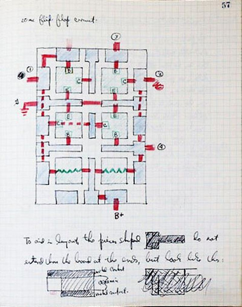 Drawing from Jay Last's notebook