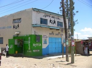 An M-Pesa storefront near Lake Naivasha. We interviewed the agent inside (not pictured).
