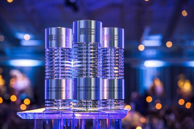 The 2018 Fellow Awards took place at the Computer History Museum on April 28, 2018, and honored Dov-Frohman-Bentchkowsky, Dame Stephanie Shirley CH, and Guido van Rossum for their extraordinary contributions to the fields of computing and technology.