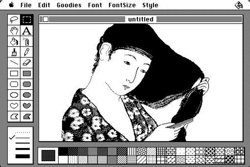 Early MacPaint drawing by Susan KareCredit: Apple, Inc.
