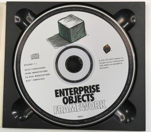 Enterprise Objects Framework 1.1 CD-ROM (1995). Multi-platform, for Intel, SPARC, PA-RISC, and NeXT Computers (Motorola 68k processors). CHM#102707236