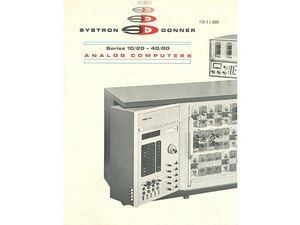 Systron-Donner Analog Computers brochure
