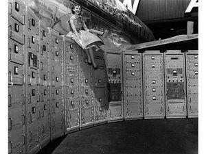 Beckman computer at the San Francisco airport, 1956