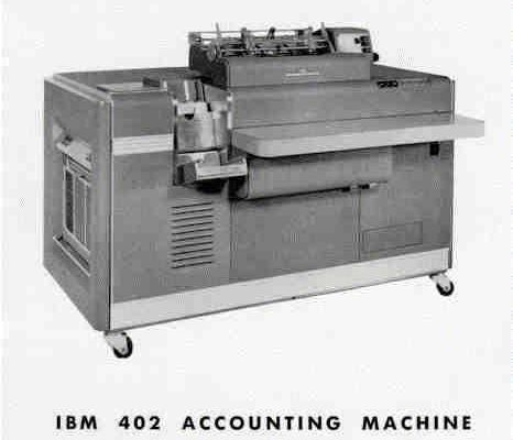The IBM 402 – punched card tabulating machine