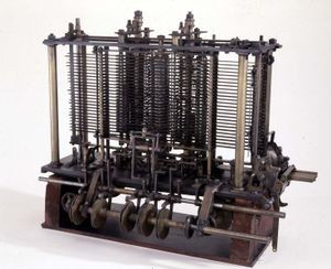 Experimental portion of Analytical Engine, 1871 Courtesy Science Museum (London)