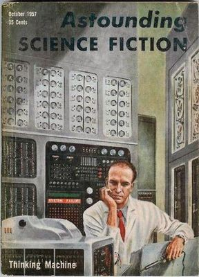 Cover of Astounding Science Fiction, October 1957, by Ed Emshwiller