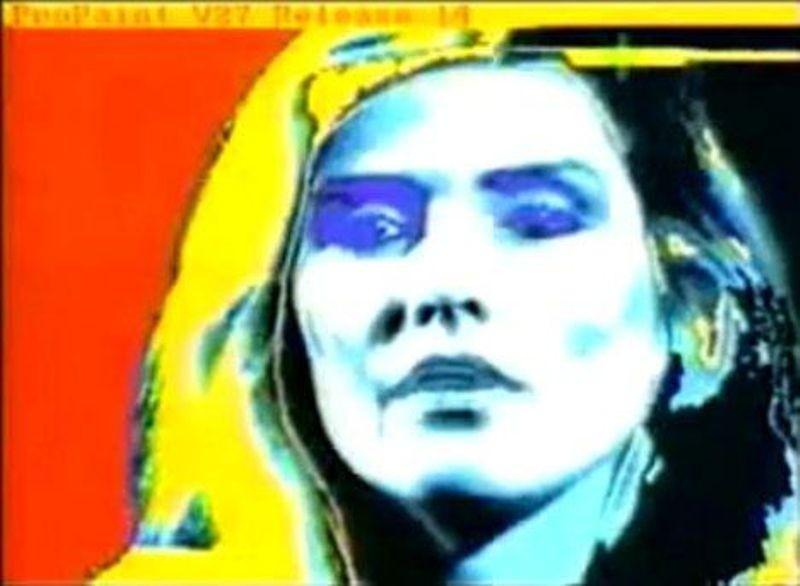 Debbie Harry by Andy Warhol (and an assist from ProPaint)