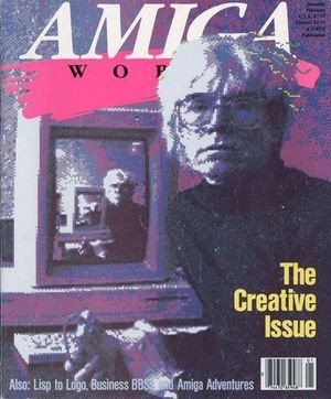 Warhol on the cover of Amiga World