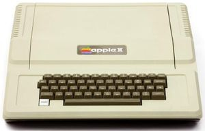 Apple II, designed by Steve Wozniak in 1977.