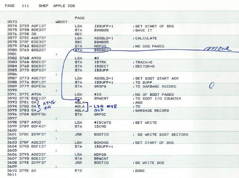 Apple II DOS Source Code | @CHM Blog | Computer History Museum