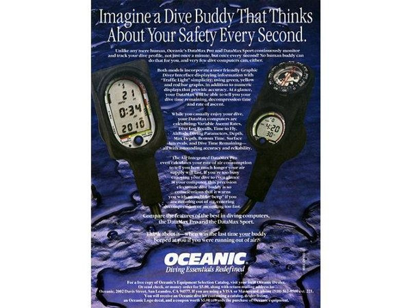 Electronic dive watches allowed for more accurate measurement of depth and time spent below the surface.