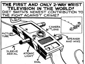 Dick Tracy's 2-way wrist television also allowed him to communicate with other members of The City's police force.