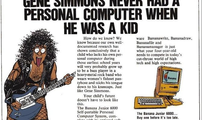 The Banana Junior 600 ad from 1984.