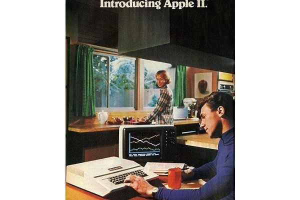 "Like many computer and technology ads at the time, Apple's early promotional material was dominated by text. Several decades later, some of the most memorable Apple ads would only have a word or two, such as ""Think Different"" or ""iPod."" (1977)"
