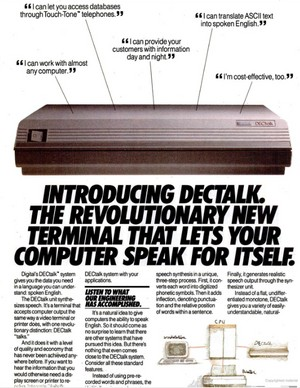 DECtalk advertisement, 1984