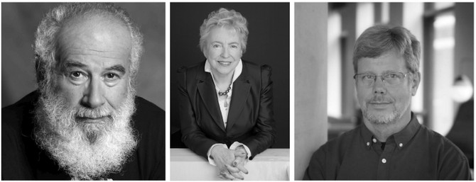 Left to right: Dov Frohman-Bentchkowsky, Dame Stephanie Shirley CH, and Guido van Rossum will be inducted into the Museum's Hall of Fellows on April 28, 2018.