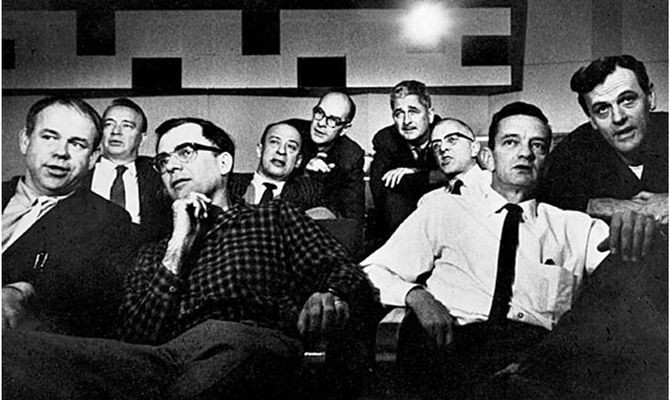 "The men pictured here are famed as ""Disney's Nine Old Men."" They were the most accomplished animators of their, and some say, any generation. During its peak, from the 1930s to 1960s, Walt Disney Productions created the first full-length animated movie-Snow White, along with a series of acclaimed shorts starring Mickey Mouse, Donald Duck, Goofy and many other famous characters still front and center in the American consciousness. Today, many would say that that Pixar has taken Disney's place in the animation world. One of Ed Catmull's strongest influences as he grew up was Walt Disney and Disney animation."