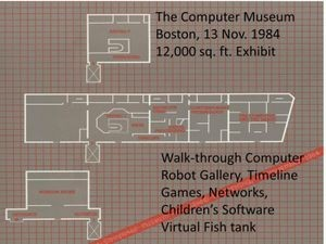 The Computer Museum, floorplan, November 1984