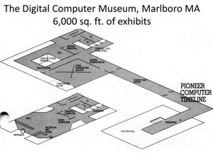 Digital Computer Museum floorplan, 1979