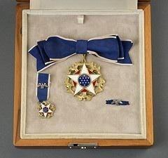 Helen Keller's Presidential Medal of Freedom, awarded by Lyndon B. Johnson in 1964.