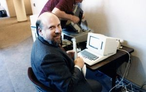 Jef Raskin (1943-2005) was a creative designer whose visionary ideas laid the foundation for the Apple Macintosh. His persistent promotion of advanced user interface designs was apparent in his 2000 book The Humane Interface. His eagerness to show his ideas and do demos helped spread his ideas, but sometimes his enthusiasm was overwhelming.