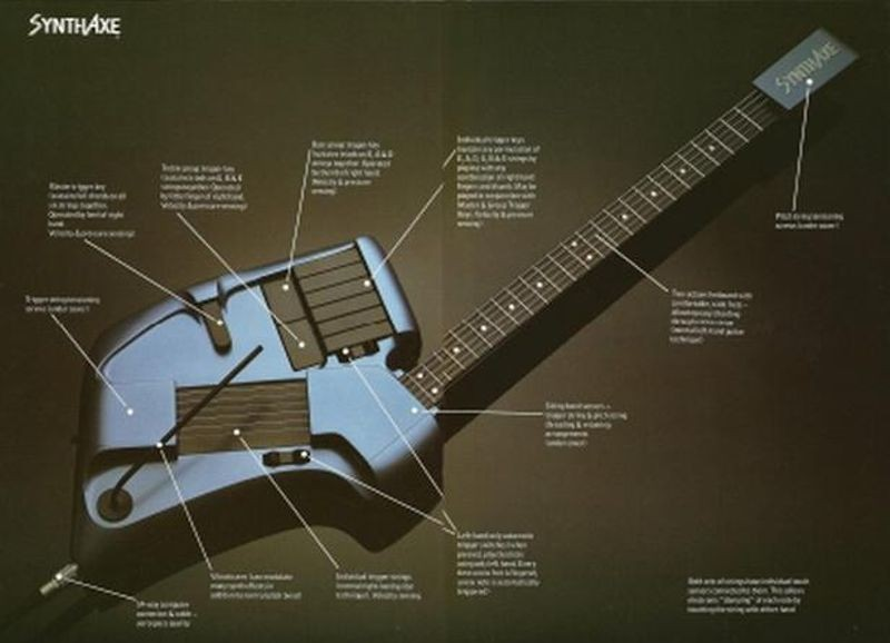 The SynthAxe initially sold for ten thousand pounds in 1985.