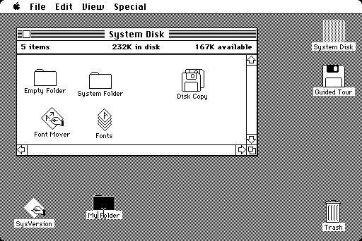 1984 Macintosh System 1.0
