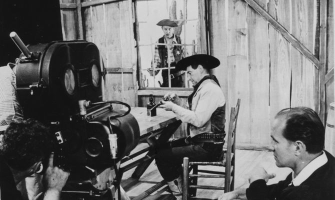 Behind the scenes of Saga, the Western written by TX-0. Collection of the Computer History Museum, 102693340.