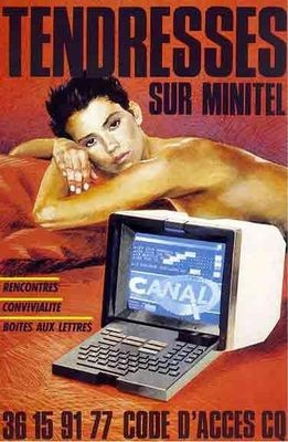 Erotic Minitel services like this one advertised here were a major moneymaker.
