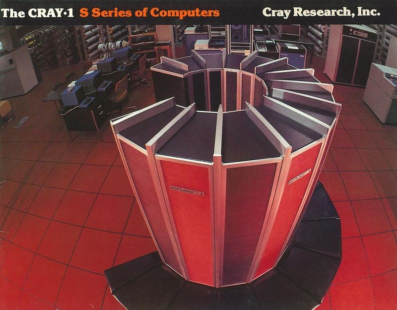 The Cray 1 supercomputer used 65,000 Fairchild high-speed RAM chips for main memory.