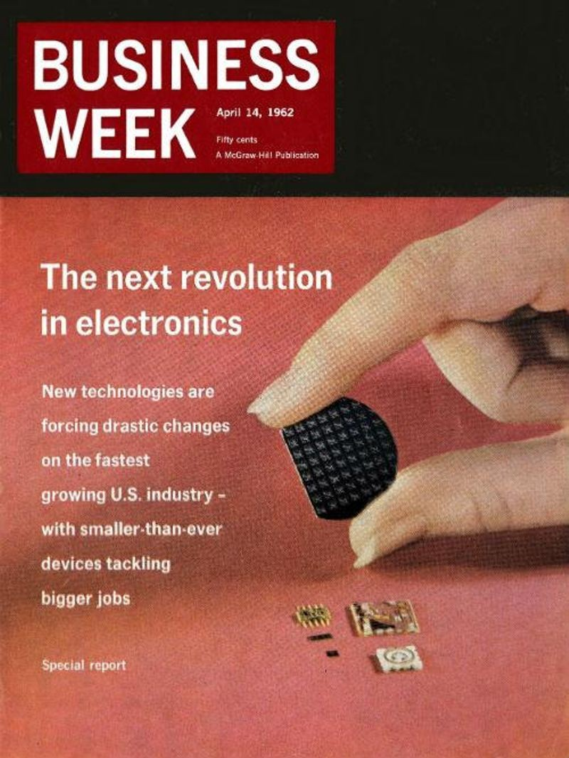 "Business Week magazine featured Fairchild in a special report on ""The next revolution in electronics."""