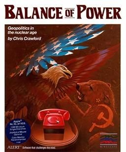 Balance of Power, designed by Chris Crawford, explores Cold War brinksmanship, allow the player to become either President of the United States or Secretary General of the Communist Party of the USSR.
