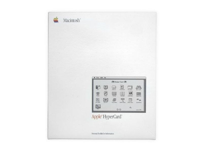 Apple's HyperCard introduced hypertext to the world, albeit in single-user form