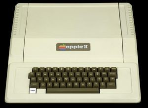 The original Apple II personal computer, the machine that propelled Apple into a global company (1977)