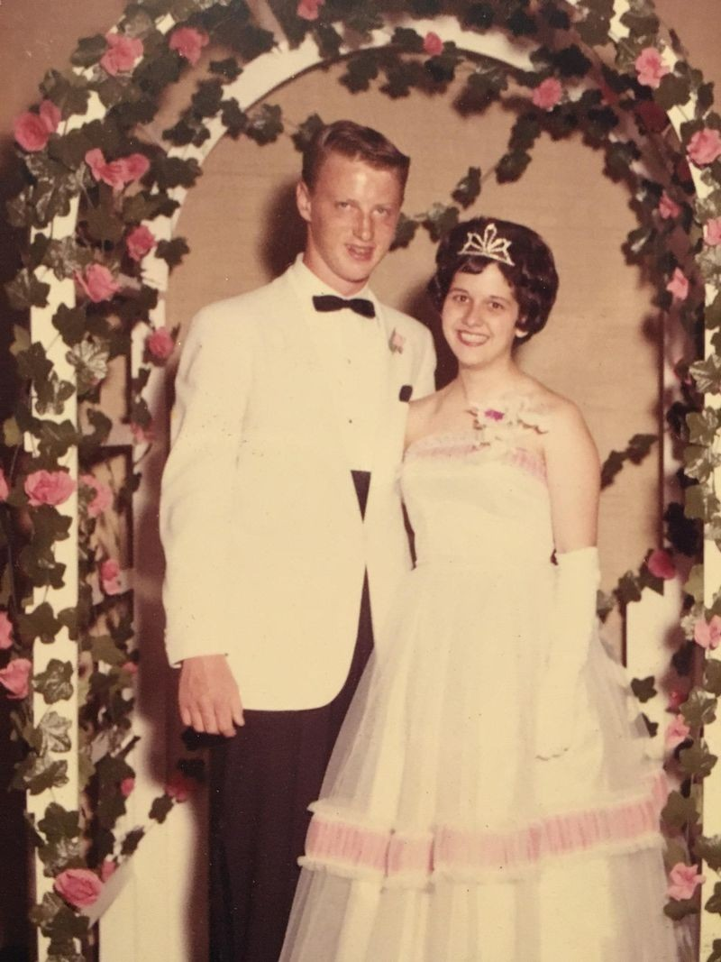 Gary and Dorothy at their high school prom in 1961