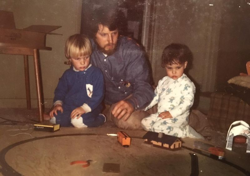Gary with Scott and Kristin, ca 1973